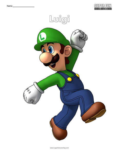 Luigi- Nintendo Coloring