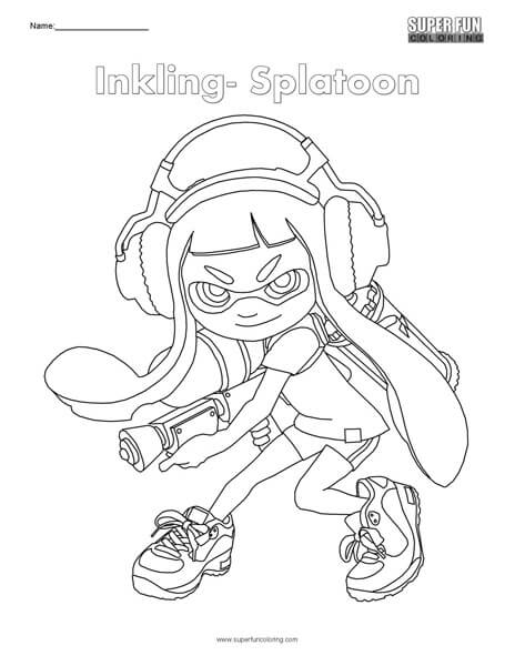Inkling- Splatoon Coloring - Super Fun Coloring