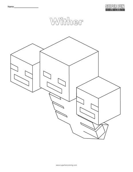 Wither Minecraft Coloring Super Fun Coloring