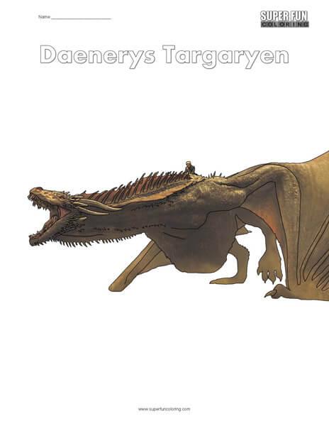 Daenerys Targaryen Coloring