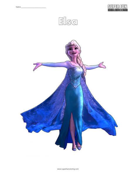 Elsa Frozen Coloring