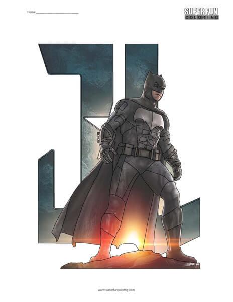 Justice League Batman Coloring
