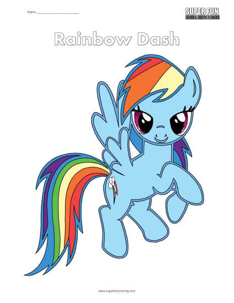Rainbow Dash My Little Pony Coloring Page