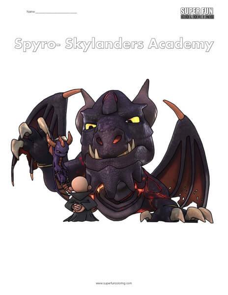 Skylanders Spyro Coloring