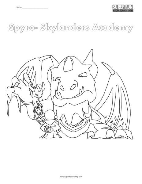 Skylanders Spyro Coloring Page Super Fun Coloring