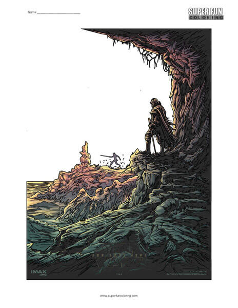 Star Wars The Last Jedi Coloring