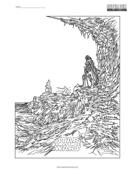 High Quality Star Wars  The Last Jedi Coloring Page ...