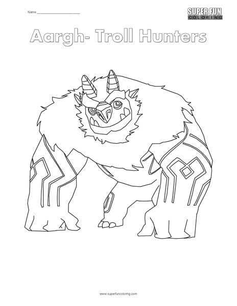 trollhunters coloring pages Troll Hunters Coloring Page   Super Fun Coloring trollhunters coloring pages