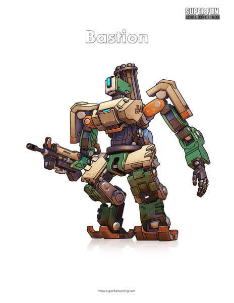Overwatch Bastion Coloring Page