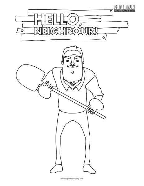 Hello Neighbor Coloring Page ...
