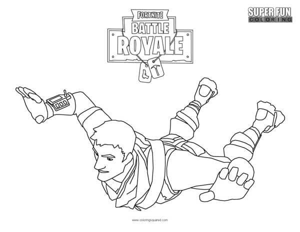 fortnite skydiving coloring page super fun coloring