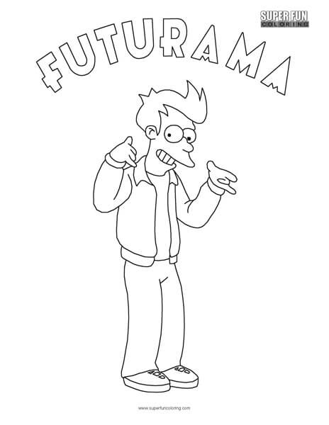 futurama coloring pages Fry Futurama Coloring Sheet   Super Fun Coloring futurama coloring pages
