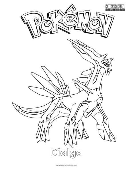 Pokémon Dialga Coloring Page ...
