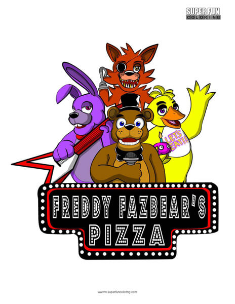 Five Nights at Freddy's- FNAF Coloring Sheet Five Nights at Freddy's