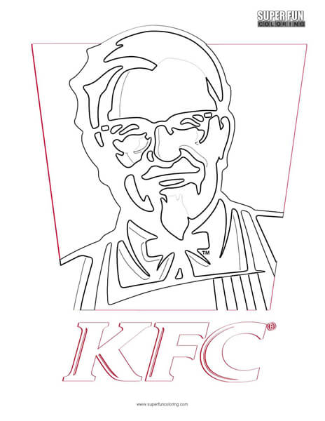kfc logo coloring page