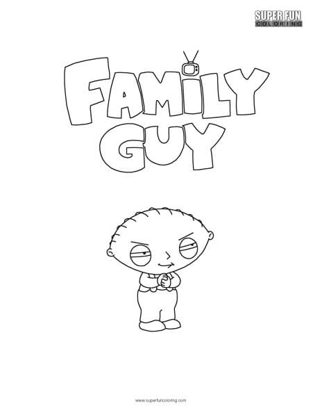family guy stewie griffin coloring sheet