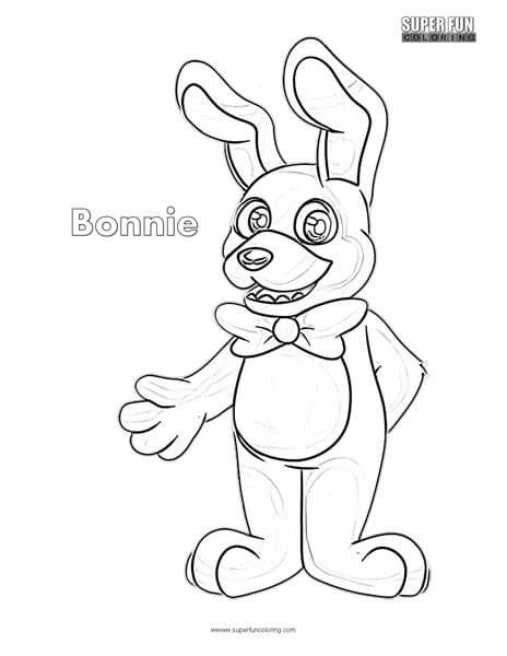 fnaf bonnie coloring pages Bonnie Coloring Sheet   Super Fun Coloring fnaf bonnie coloring pages