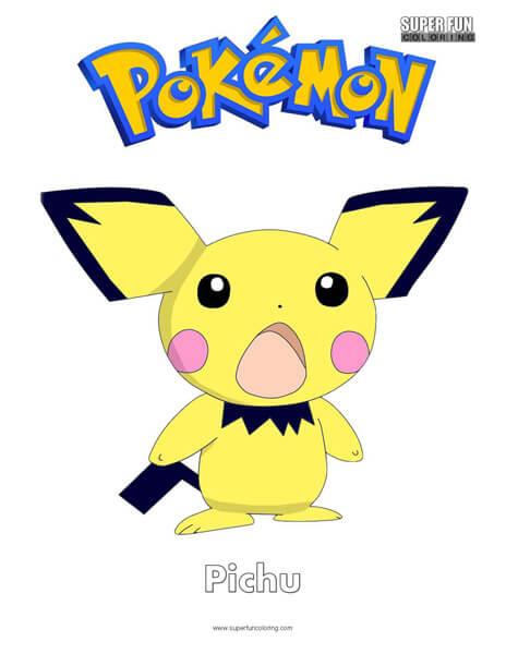 pichu coloring pages Pokémon Pichu Coloring Page   Super Fun Coloring pichu coloring pages