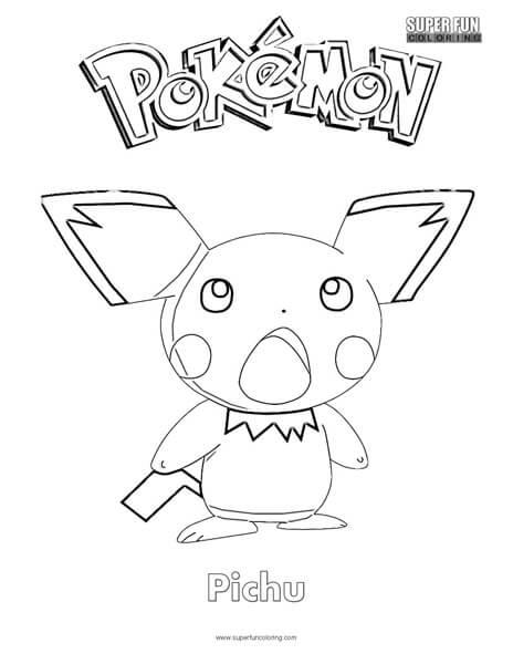 Pokemon Pichu Coloring Page