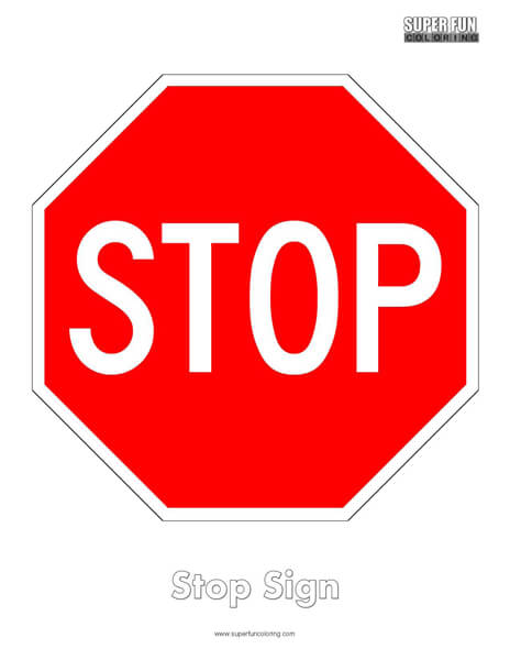Stop Sign Coloring Page Free
