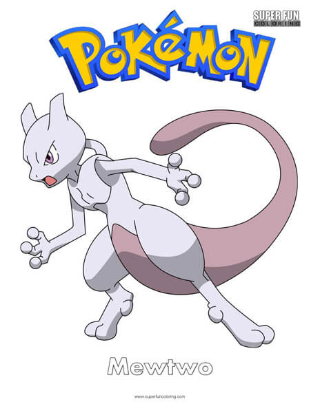 Mewtwo Coloring Page