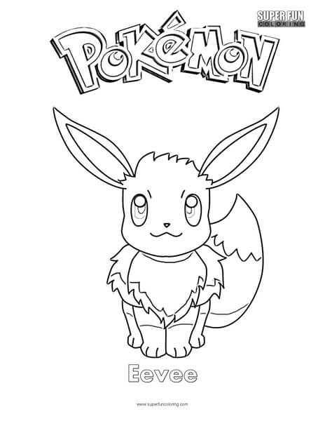 pokemon eevee coloring pages Pokémon Eevee Coloring Page   Super Fun Coloring pokemon eevee coloring pages