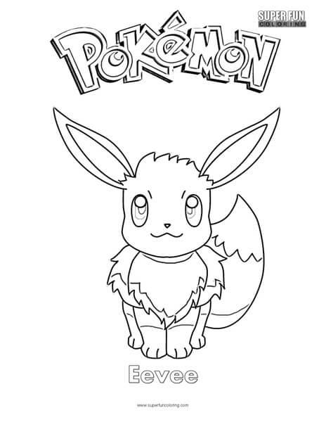 Pokemon Eevee Coloring Page