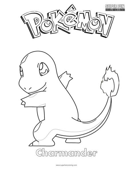 Pokémon Charmander Coloring Page - Super Fun Coloring