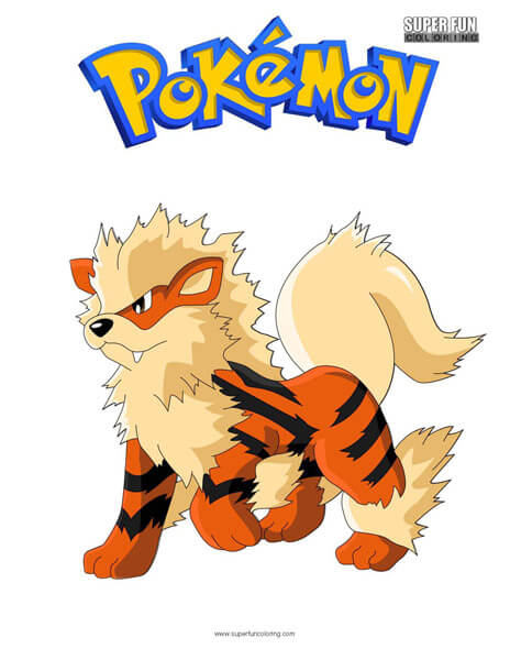 Arcanine Coloring Page