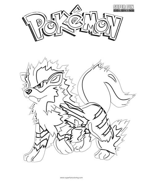 arcanine coloring pages - arcanine pokemon coloring page super fun coloring