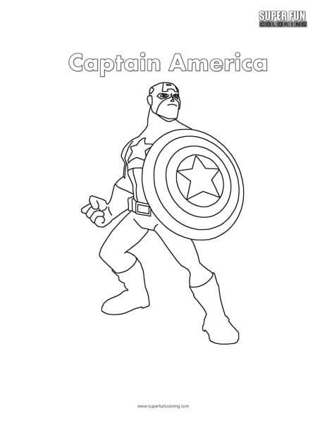 Captain America Coloring Page - Super Fun Coloring