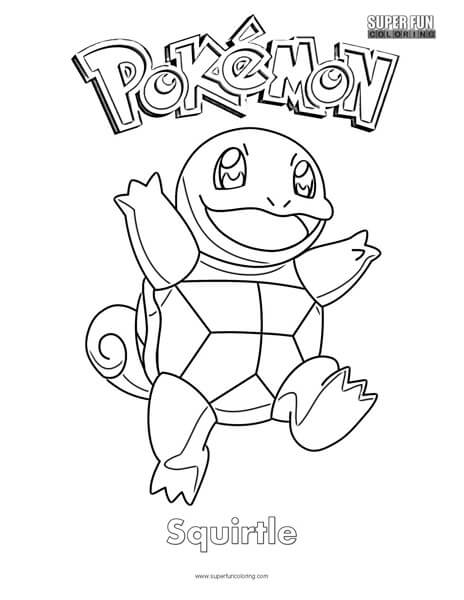 Pok 233 Mon Squirtle Coloring Page Super Fun Coloring