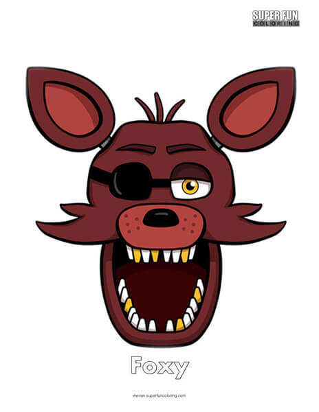 photograph regarding Five Nights at Freddy's Printable Mask identified as Video clip Game titles - Tremendous Enjoyment Coloring