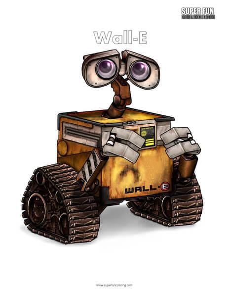 Wall-E Coloring Page Disney