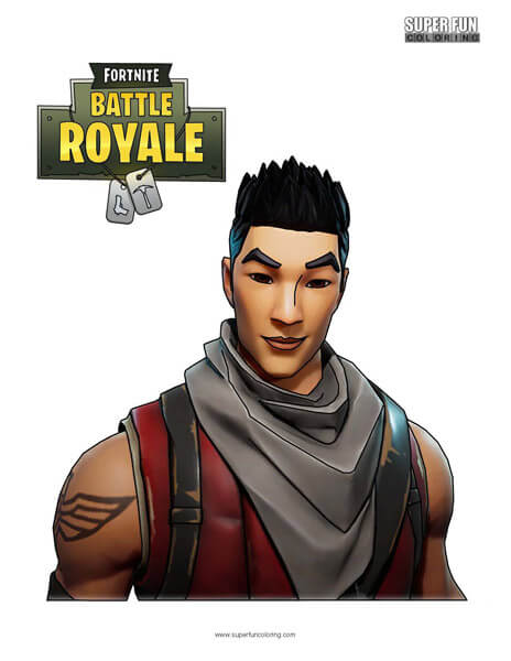 Fortnite Character Coloring Page
