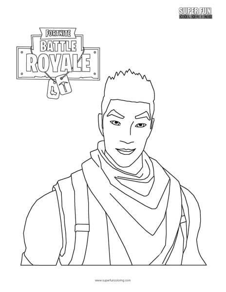 Fortnite Character Coloring Page - Super Fun Coloring