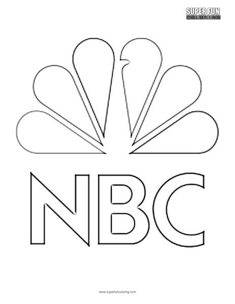 logo coloring pages NBC Logo Coloring Page   Super Fun Coloring logo coloring pages