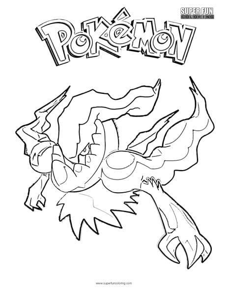 Darkrai Pokemon Coloring Page - Super Fun Coloring