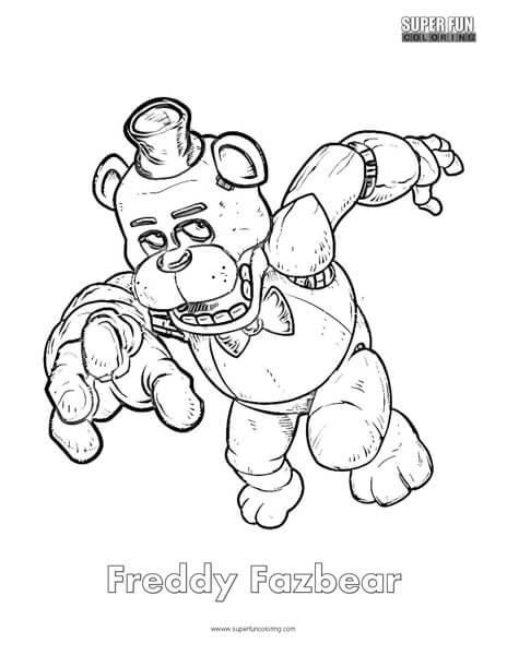 Freddy Fazbear Coloring Sheet - Super Fun Coloring