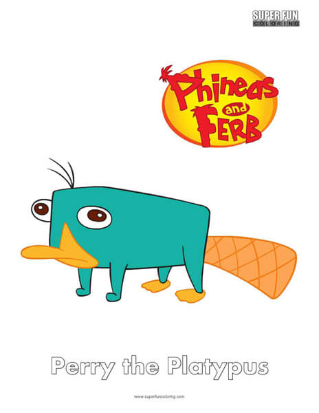Perry the Platypus- Phineas and Ferb Coloring - Super Fun Coloring