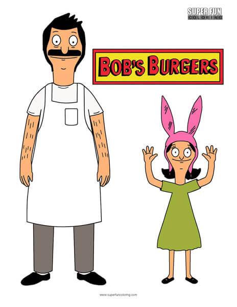 Bob's Burgers Coloring Sheet