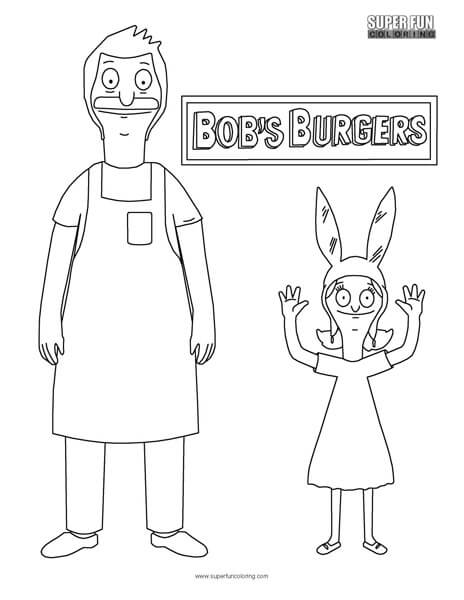 bobs burger coloring pages - photo#20