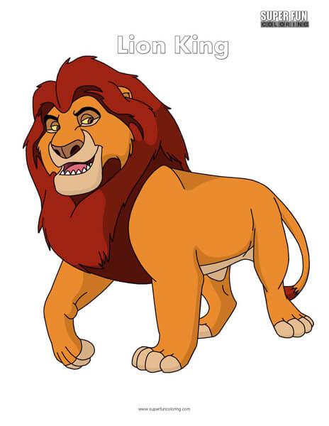 Lion King Coloring Page Disney