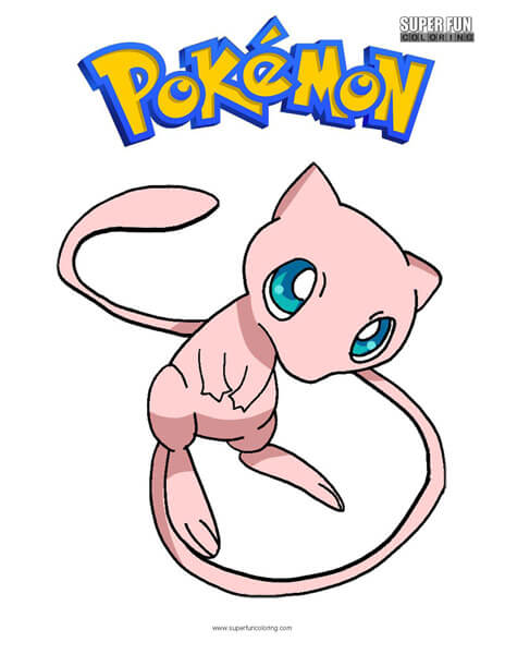 Mew Coloring Page