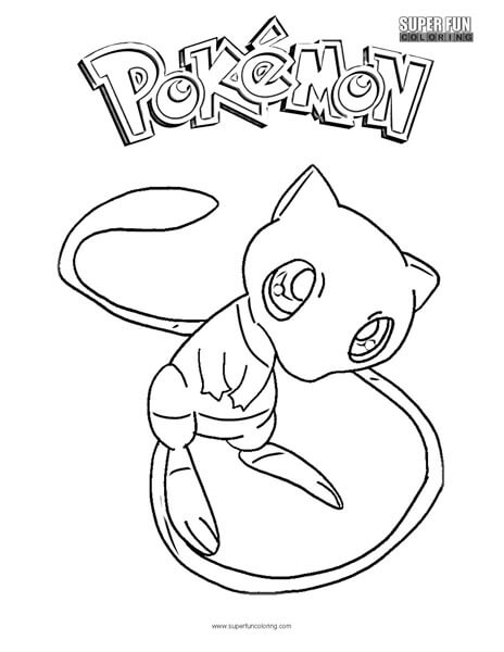 Mew Pokemon Coloring Page Super Fun Coloring - Coloring-pages-of-mew