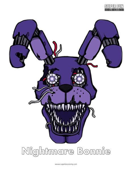 Nightmare Bonnie- FNAF Coloring Sheet Five Nights at Freddy's