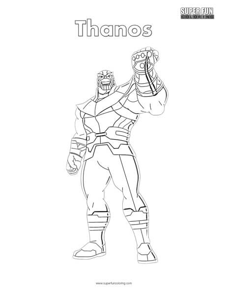 Thanos Pages Coloring Pages
