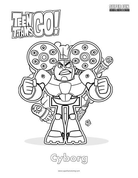 Teen Titans Go Coloring Super