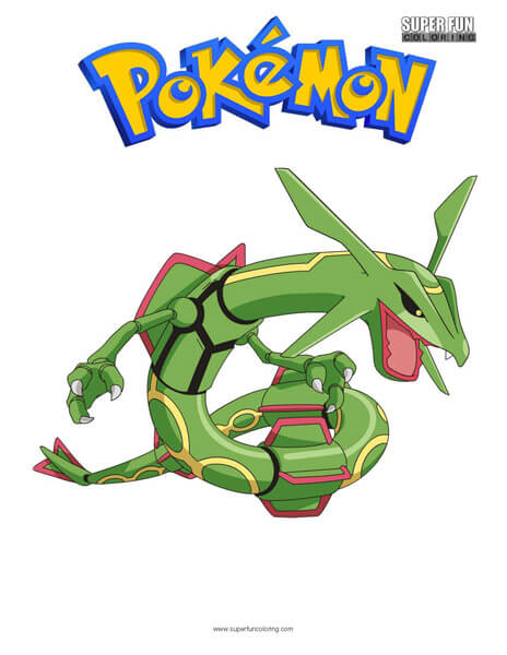 Rayquaza Coloring Page