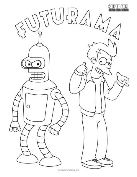 Bender Futurama Coloring Pages